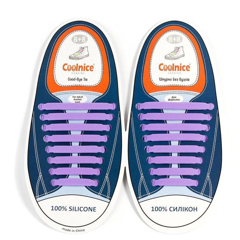 Силиконовые шнурки Coolnice фиолетовые