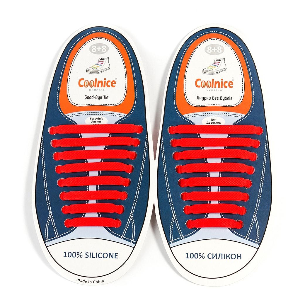 Силиконовые шнурки Coolnice красные