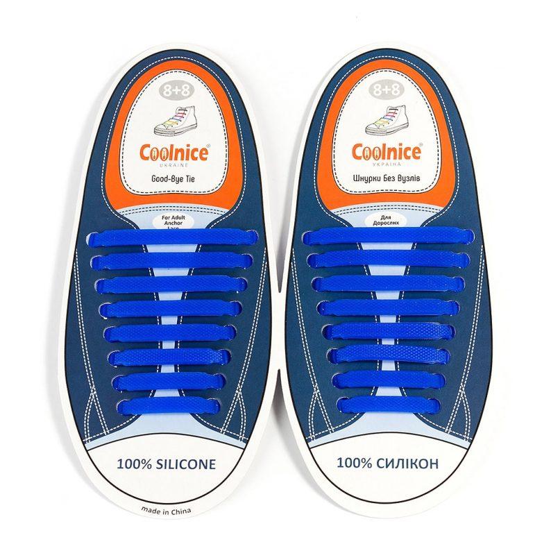 Силиконовые шнурки Coolnice синие