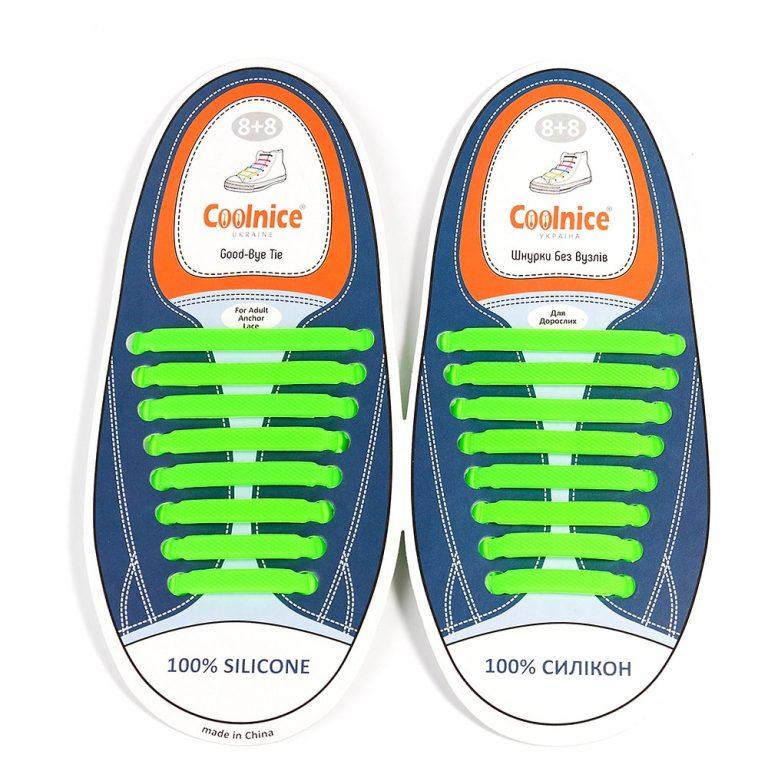 Силиконовые шнурки Coolnice зелёные