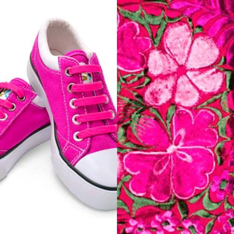 розовые шнурки на кедах для web