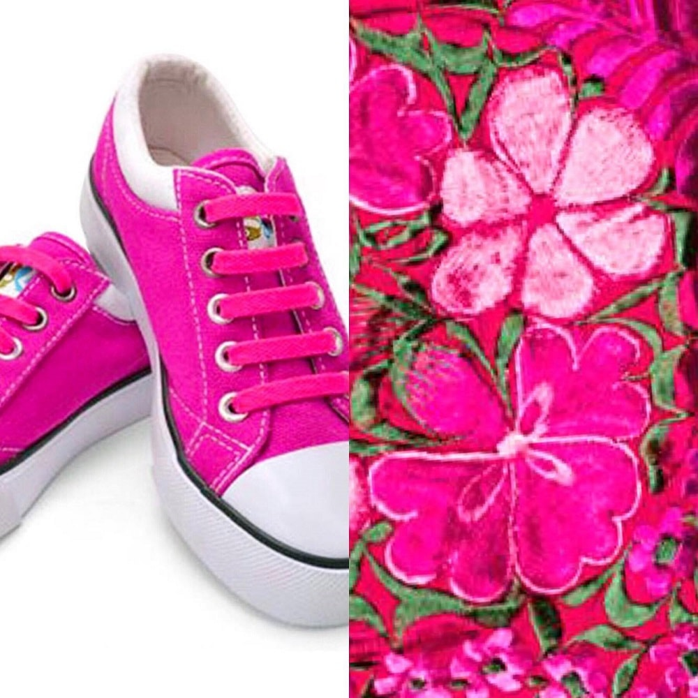 розовые шнурки на кедах