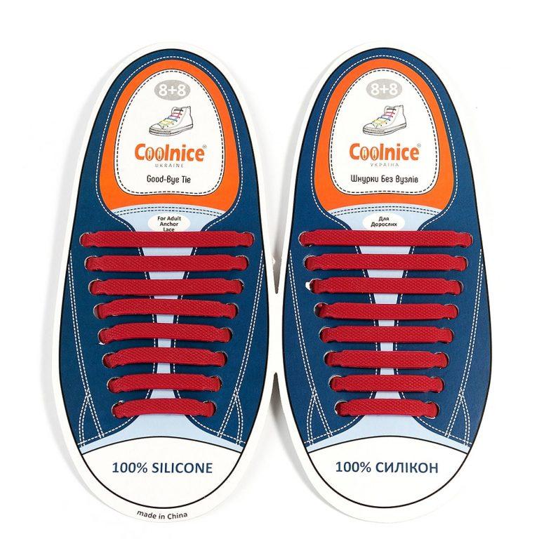 Силиконовые шнурки Coolnice бордовые
