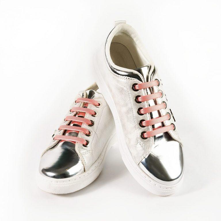 Шнурки Coolnice розовый металлик на кросовках