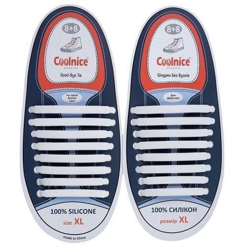 Силиконовые шнурки Coolnice 8+8XL