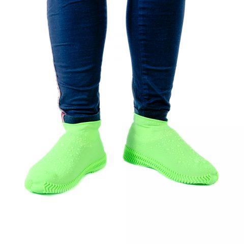 Бахилы силиконовые для обуви от дождя Coolnice зелёные