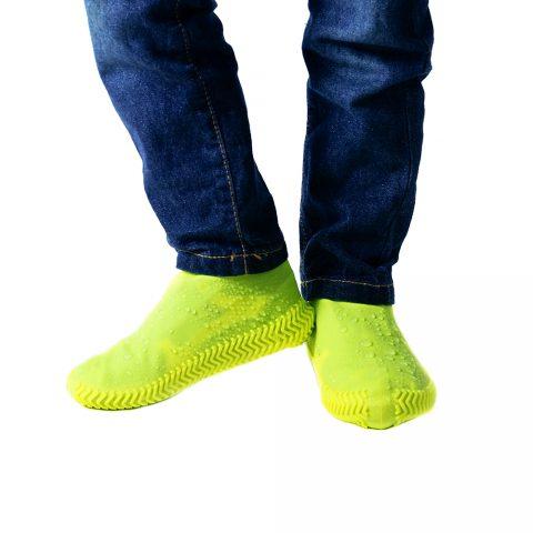 Бахилы силиконовые для обуви от дождя Coolnice жёлтые
