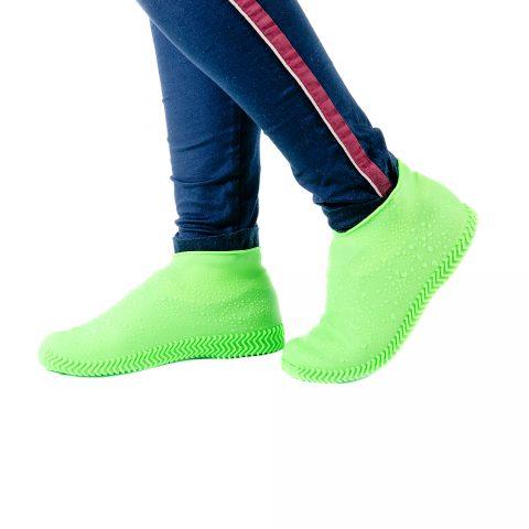 Чехлы силиконовые для обуви от дождя Coolnice зелёные