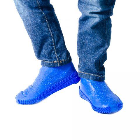 Силиконовые бахилы для обуви Coolnice синие