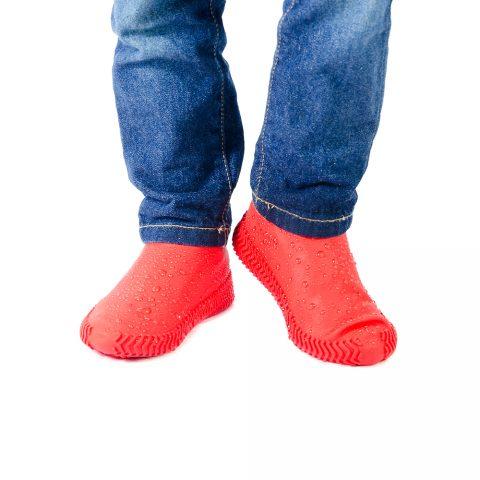 Силиконовые чехлы-бахилы для обуви Coolnice красные