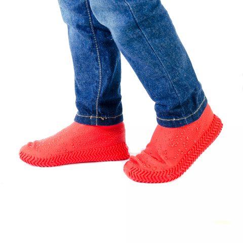 Силиконовые чехлы-бахилы для обуви Coolnice красные1