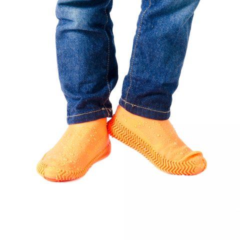 Силиконовые чехлы-бахилы для обуви Coolnice оранжевые