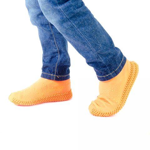 Силиконовые чехлы-бахилы для обуви Coolnice оранжевые1